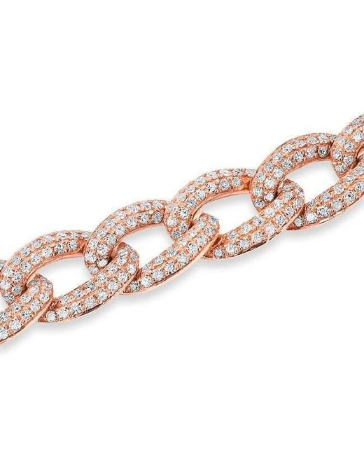 Anne Sisteron Metallic 14kt Rose Gold Diamond Chain Link Magnificence Bracelet