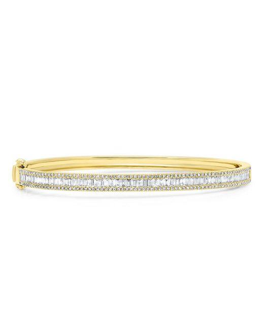Anne Sisteron Metallic 14kt Yellow Gold Diamond Eloise Baguette Bangle