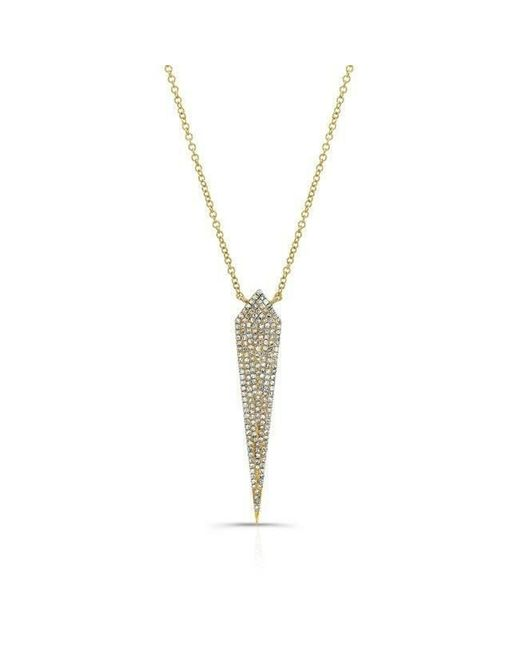 Anne Sisteron - Metallic 14kt Yellow Gold Diamond Spear Necklace - Lyst