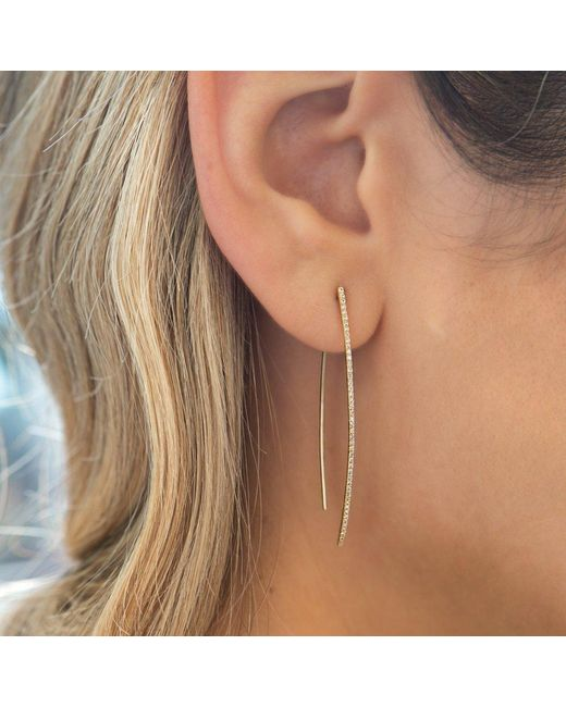 Anne Sisteron Metallic 14kt White Gold Diamond Wishbone Earrings