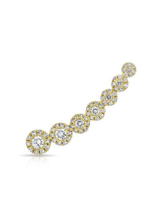 Anne Sisteron - Metallic 14kt Yellow Gold Diamond Round Malia Ear Climber - Lyst