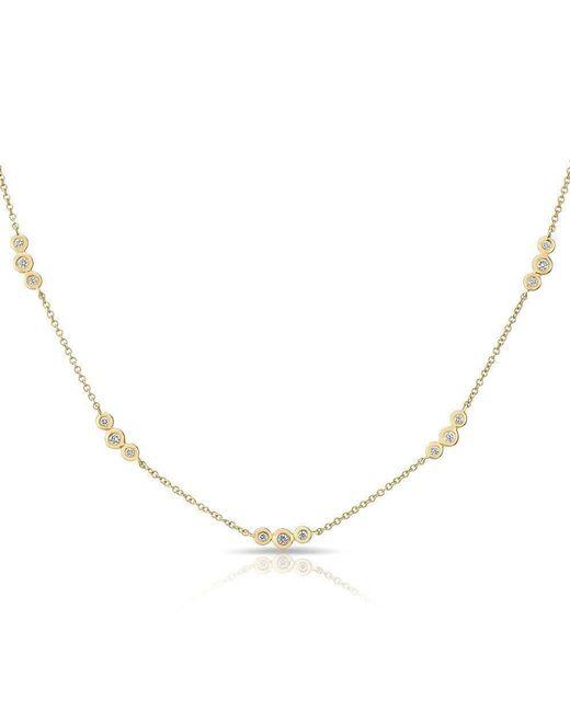 Anne Sisteron | Metallic 14kt Yellow Gold Diamond Bezel Amber Necklace | Lyst