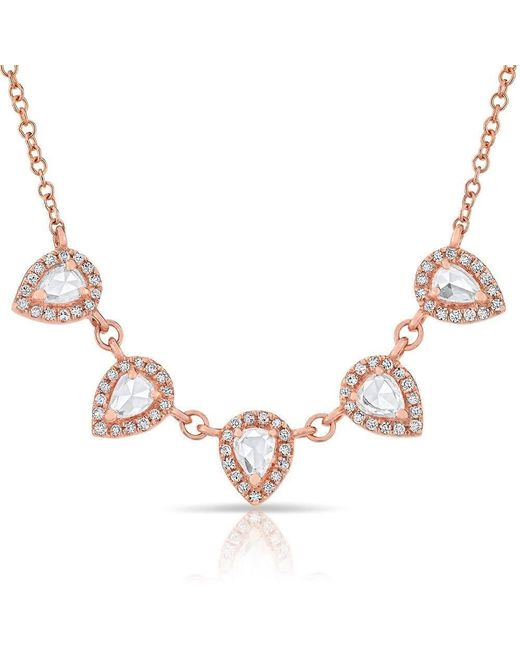 Anne Sisteron - Multicolor 14kt Rose Gold Diamond Monarch Necklace - Lyst