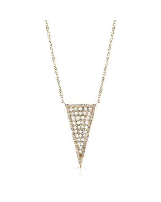 Anne Sisteron - Metallic 14kt Yellow Gold Diamond Slice Triangle Necklace - Lyst