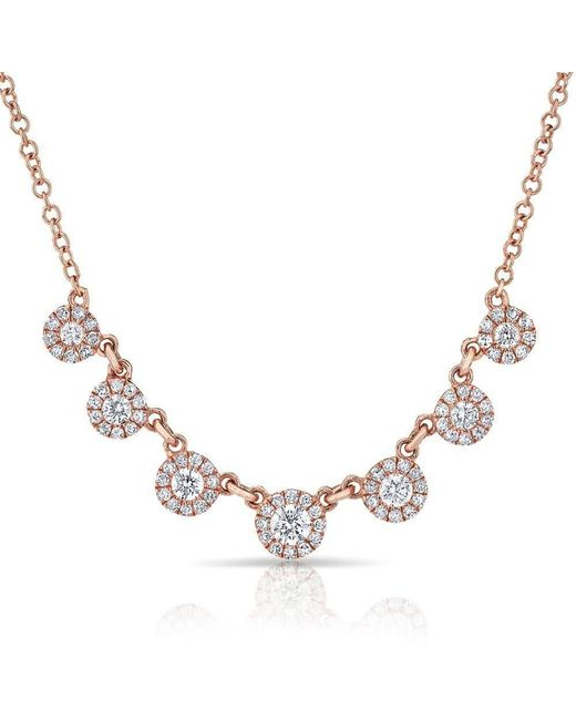 Anne Sisteron - Metallic 14kt Rose Gold Diamond Elena Drops Necklace - Lyst