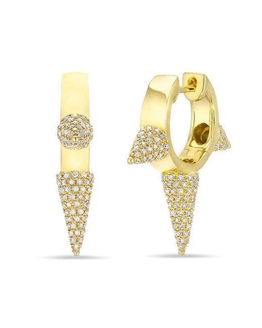 Anne Sisteron - Multicolor 14kt White Gold Diamond Extreme Punk Rock Huggie Earrings - Lyst