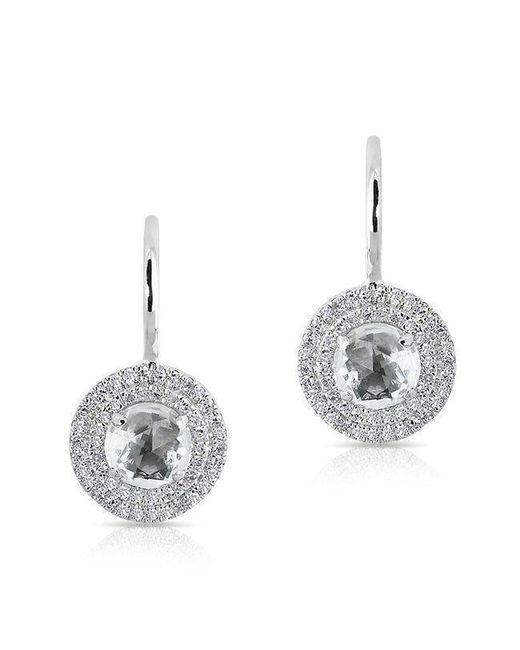 Anne Sisteron - 14kt White Gold White Topaz Diamond Sonrisa Earrings - Lyst