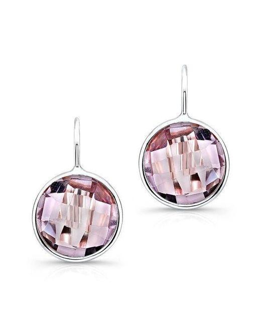 Anne Sisteron Pink 14kt White Gold Amethyst Earrings
