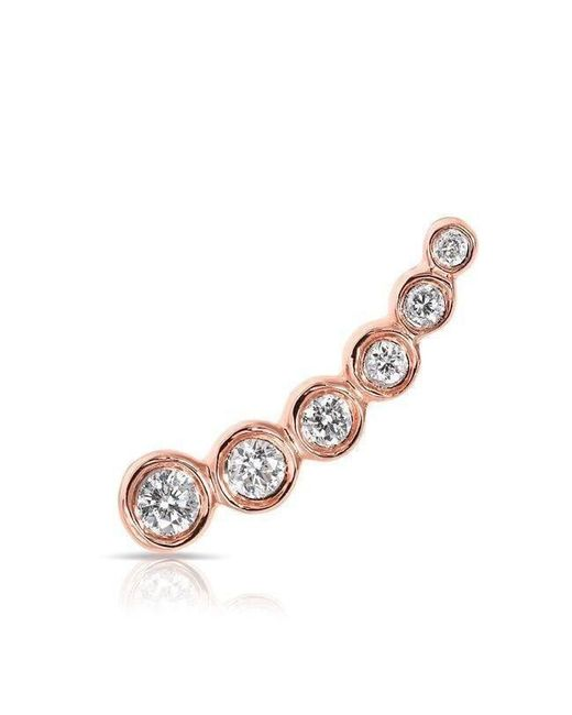 Anne Sisteron - Multicolor 14kt Rose Gold Diamond Mini Shooting Star Ear Climber - Lyst