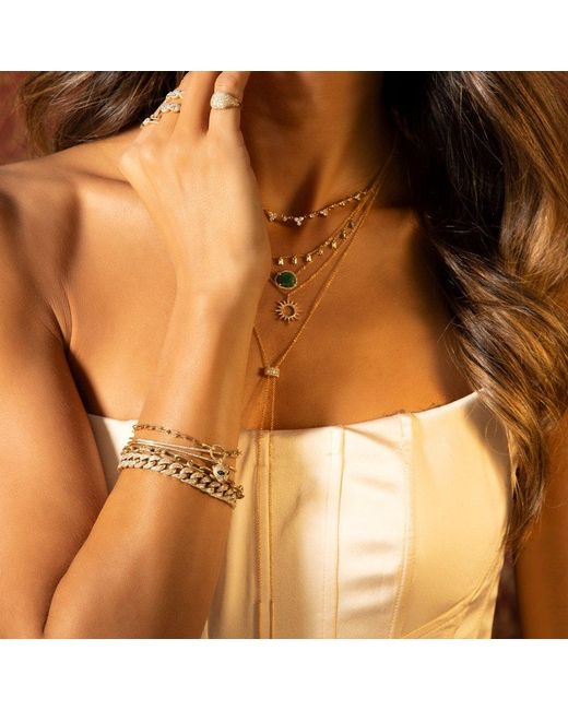 Anne Sisteron Pink 14kt Rose Gold Diamond Luxe Cameron Chain Link Bracelet