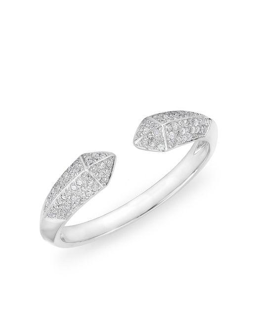 Anne Sisteron - Metallic 14kt White Gold Diamond Pyramid Horn Ring - Lyst