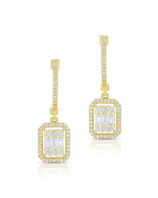 Anne Sisteron - Metallic 14kt Yellow Gold Baguette Diamond Rectangle Ryleigh Drop Earrings - Lyst