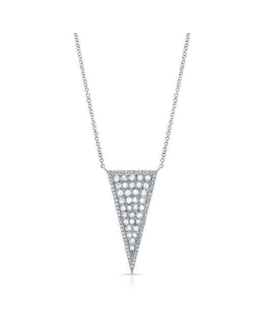Anne Sisteron - Metallic 14kt White Gold Diamond Slice Triangle Necklace - Lyst