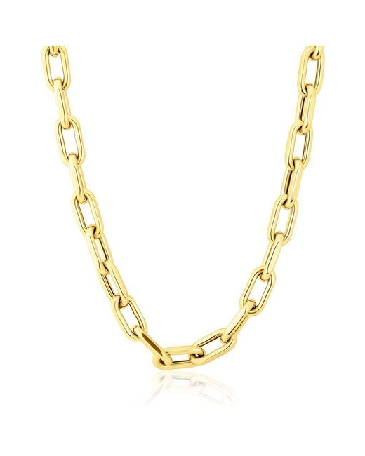 """Anne Sisteron Metallic 14kt Yellow Gold 18"""" Chain Link Luxe Lillian Necklace"""