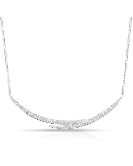 Anne Sisteron - Metallic 14kt White Gold Diamond Horn Wrap Necklace - Lyst