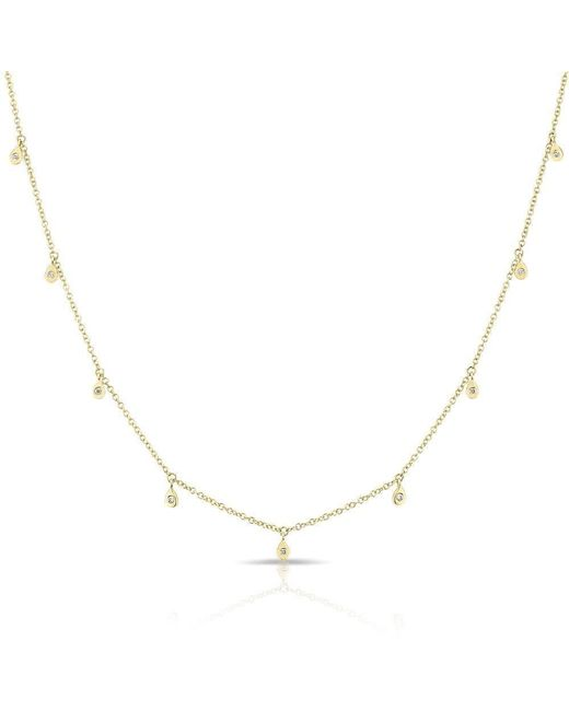 Anne Sisteron - Metallic 14kt Yellow Gold Diamond Droplets Necklace - Lyst