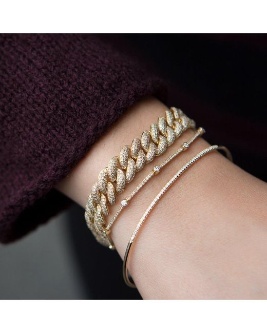 Anne Sisteron Multicolor 14kt Rose Gold Diamond Amalie Chain Link Bracelet