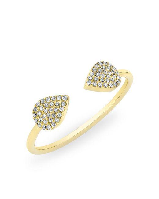 Anne Sisteron | Metallic 14kt Yellow Gold Diamond Open Pear Pauline Ring | Lyst