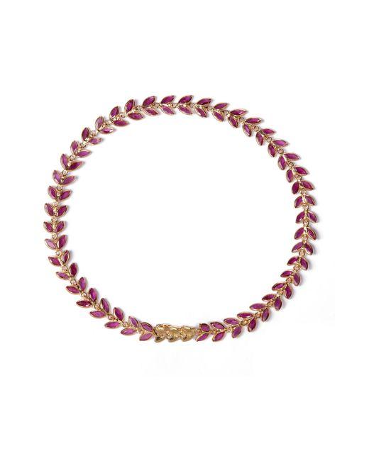 Annoushka - Metallic Ruby Vine Bracelet - Lyst
