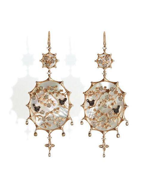 Annoushka Metallic Dream Catcher 18ct Rose Gold 4.29 Ct Diamond Earrings