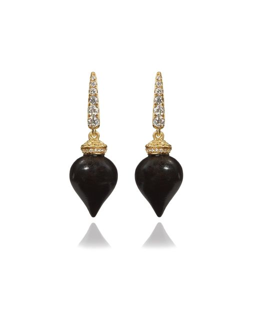 Annoushka - Metallic Touch Wood Ebony Earrings - Lyst
