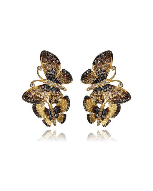Annoushka - Metallic Butterflies Duet Stud Earrings - Lyst