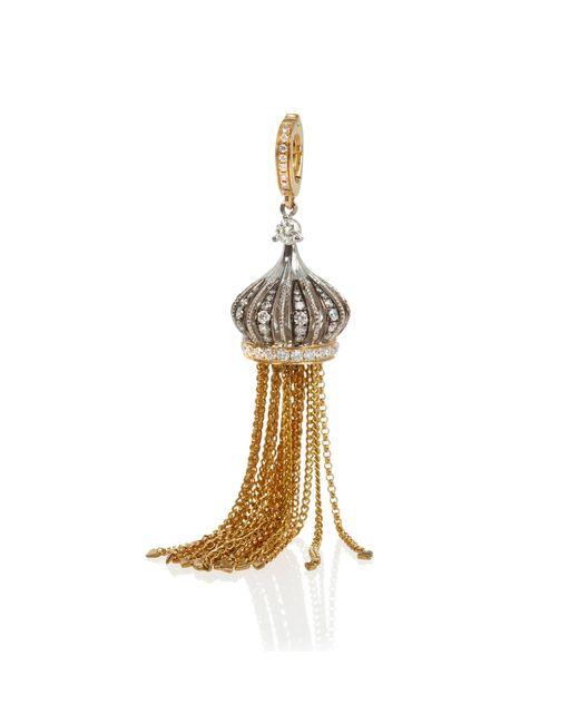 Annoushka - Metallic Touch Wood 18ct Gold Diamond Tassel Charm - Lyst