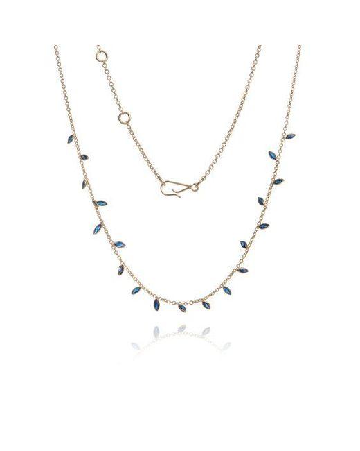 Annoushka Metallic 18ct Gold Ruby Vine Leaf Necklace