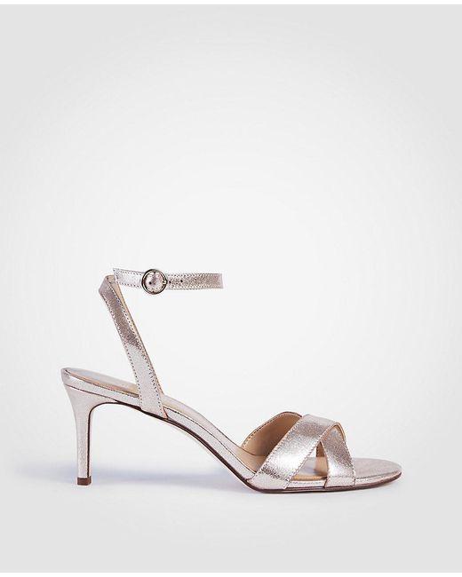 ANN TAYLOR Judith Suede Kitten Heeled Sandals 5Wug84