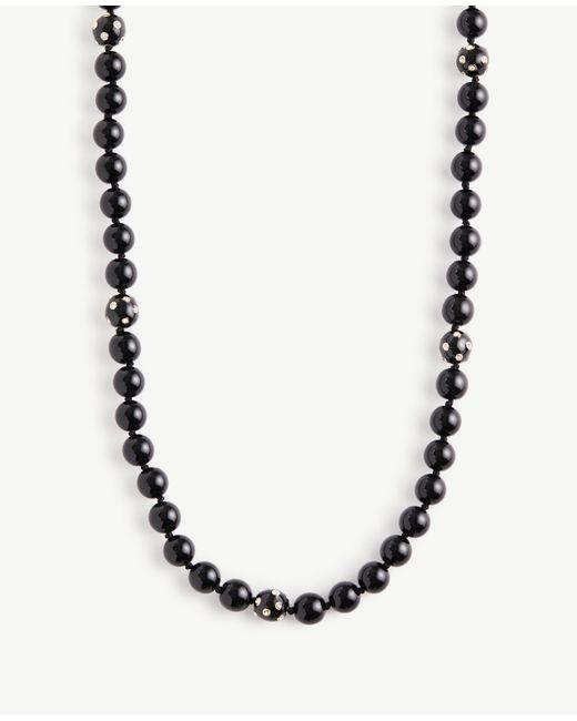 Ann Taylor | Black Beaded Necklace | Lyst