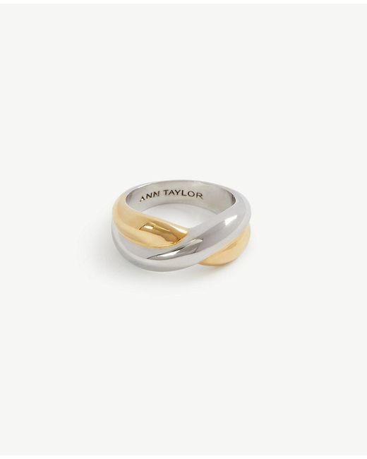 Ann Taylor | Metallic Twisted Ring | Lyst