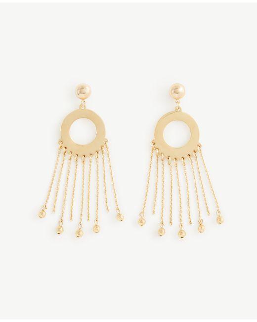 Ann Taylor   Metallic Circle Chain Statement Earrings   Lyst
