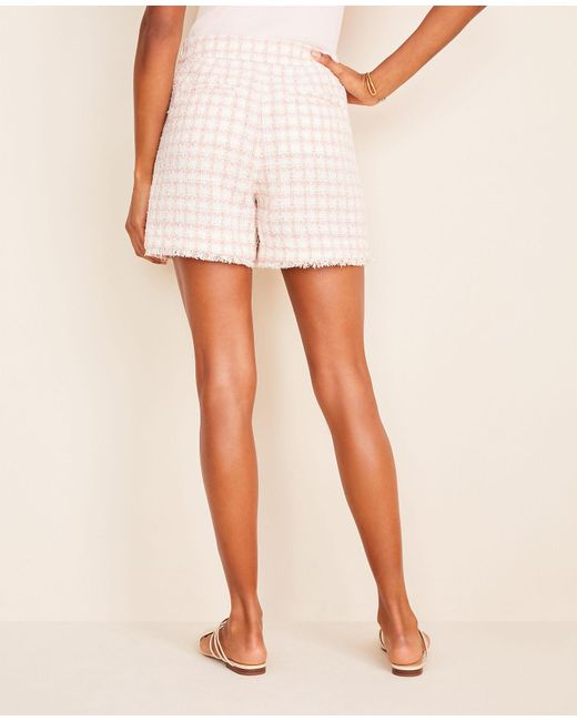 Ann Taylor Women's Pink The Tweed Short