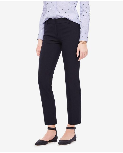 Ann Taylor - Blue The Ankle Pant In Double Cloth - Devin Fit - Lyst