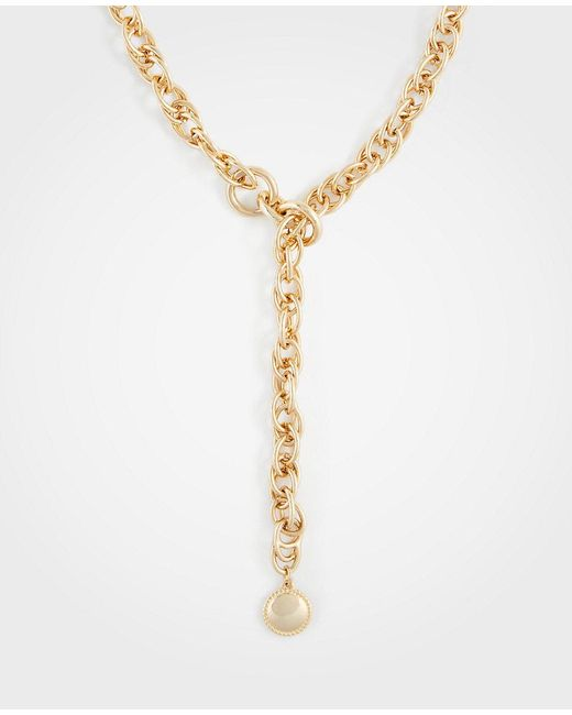 Ann Taylor - Metallic Chain Necklace - Lyst