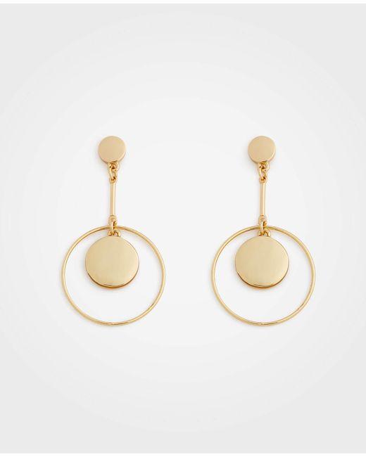 Ann Taylor - Modern Metallic Drop Earrings - Lyst