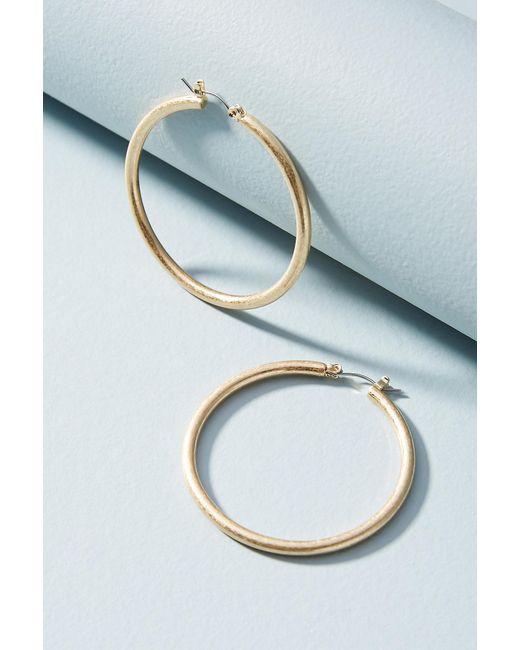 Anthropologie - Metallic Jordyn Hoop Earrings - Lyst