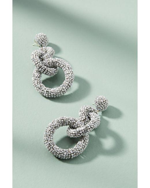 Suzanna Dai - Metallic Triple Hoop Drop Earrings - Lyst