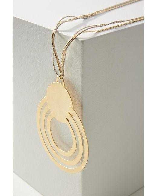 Anthropologie - Metallic Solar Orbit Pendant Necklace - Lyst