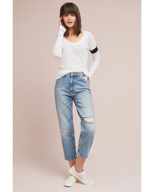 Stateside - Blue Linen Pullover - Lyst