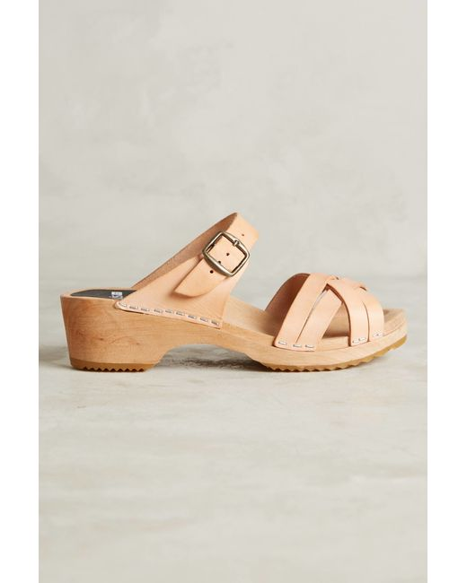 Funkis Plait Clogs In Beige Neutral Save 21 Lyst