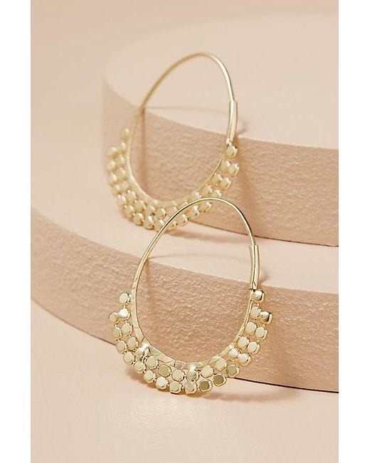 Anthropologie - Metallic Cheyenne Coin Hoop Earrings - Lyst