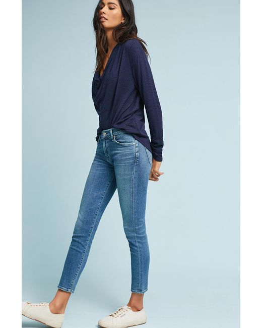 Anthropologie - Blue Citizens Of Humanity Avedon Mid-rise Ultra-skinny Ankle Jeans - Lyst