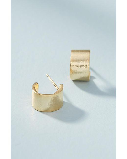 Anthropologie - Metallic Ginger Hugger Hoop Earrings - Lyst