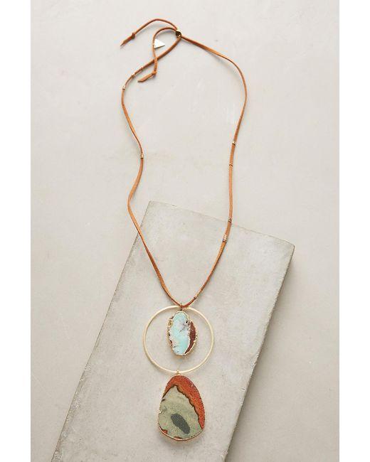 Anthropologie | Multicolor Jasper Pendant Necklace | Lyst