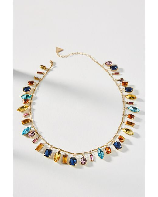 Anthropologie | Metallic Candy Carm Bib Necklace | Lyst