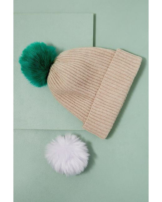 Anthropologie - Multicolor Wool And Cashmere 2 Pom Beanie - Lyst