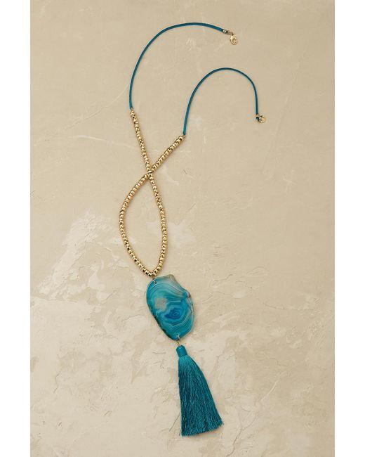 Anthropologie   Blue Saoirse Agate Pendant   Lyst