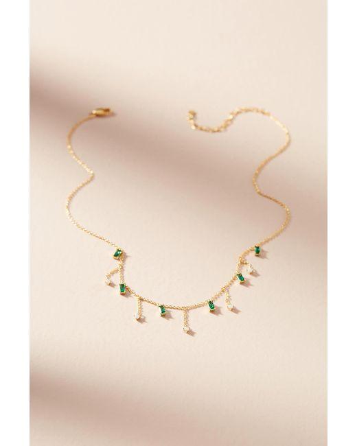 Anthropologie | Green Delicate Gem Necklace | Lyst