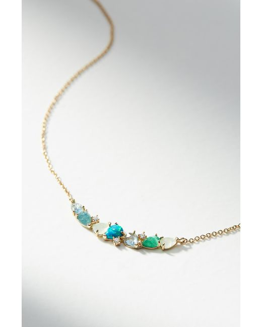 Anthropologie - Blue Stone Arch Necklace - Lyst
